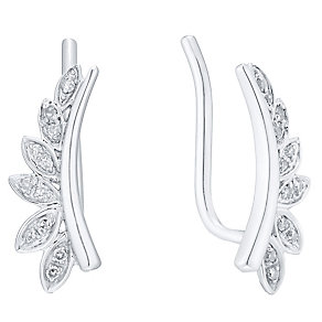9ct White Gold Diamond Ear Climber - Product number 4931793