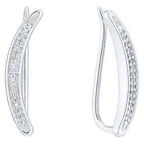 9ct White Gold Diamond Ear Climber - Product number 4931831