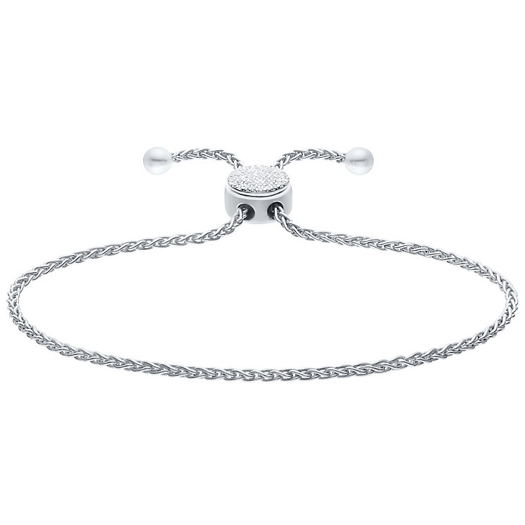 Silver Diamond Circle Bracelet - Product number 4931866