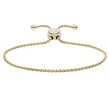 Silver Golden Tone Diamond Circle Bracelet - Product number 4931874