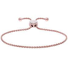 Silver Rose Tone Diamond Circle Bracelet - Product number 4931920
