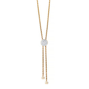 Silver Golden Tone Diamond Circle Necklace - Product number 4931947