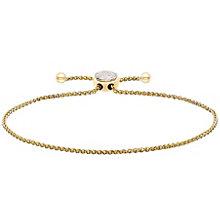 9ct Yellow Gold Diamond Circle Bracelet - Product number 4932005