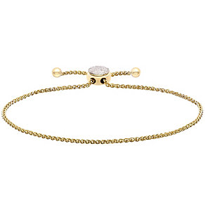 9ct Yellow Gold Diamond Circle Bracelet - Product number 4932005