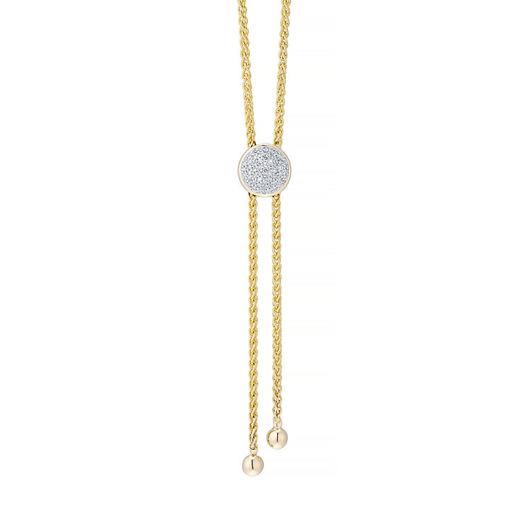 9ct Yellow Gold Diamond Circle Necklace - Product number 4932013