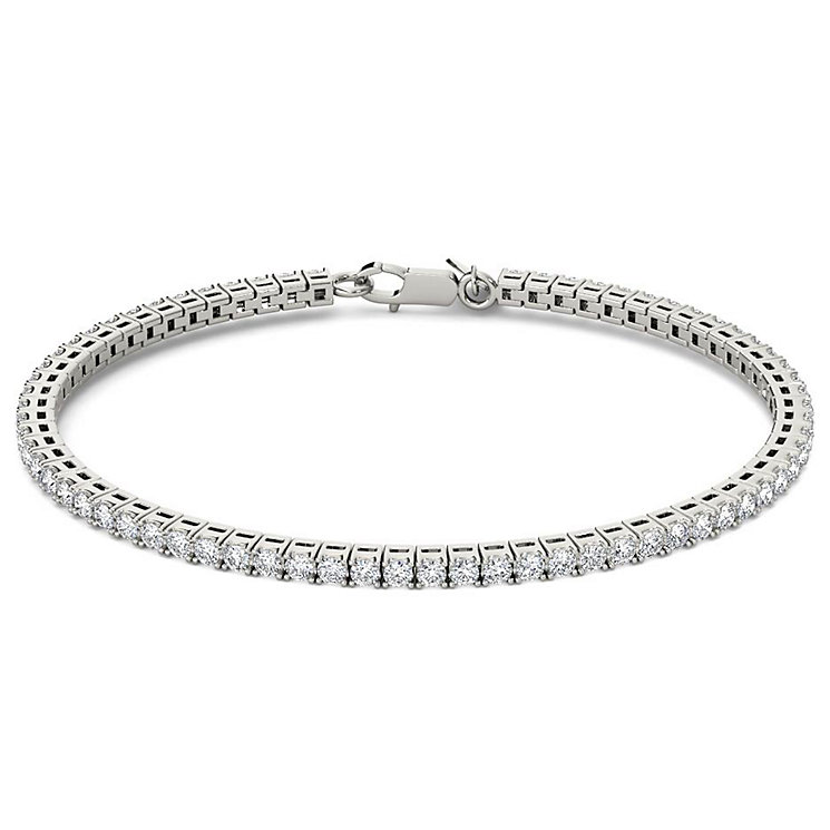 Line of Love 18ct White Gold 2ct Diamond Bracelet - Product number 4932145
