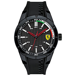 Scuderia Ferrari Men's Ion Plated Black Strap Watch - Product number 4935063