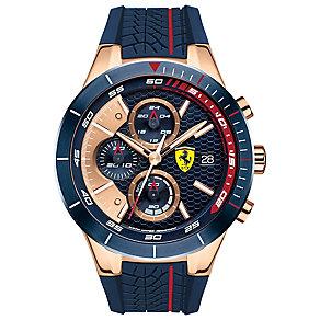 Scuderia Ferrari Men's Rose Gold Tone Strap Watch - Product number 4935071