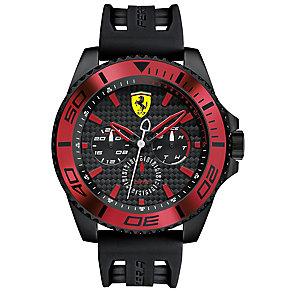 Scuderia Ferrari Men's Ion Plated Black Strap Watch - Product number 4935098