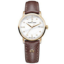 Maurice Lacriox Ladies' Rose Gold Plated Strap Watch - Product number 4936280