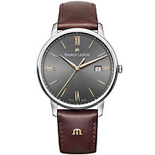 Maurice Lacriox Men's Stainless Steel Brown Strap Watch - Product number 4936388