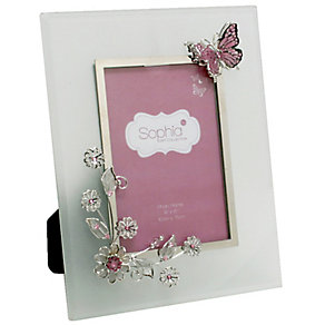 """Pink Butterfly & Flowers Photo Frame 4"""" x 6"""" - Product number 4936396"""