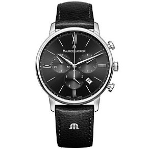 Maurice Lacriox Men's Stainless Steel Black Strap Watch - Product number 4936418