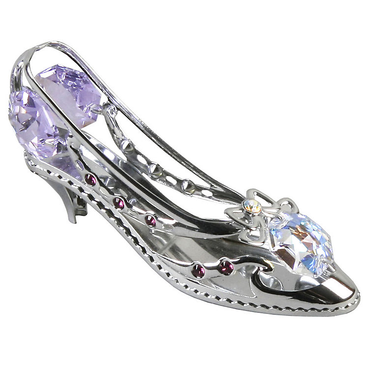Chrome Plated Shoe Ornament with Swarovski Elements - Product number 4936426