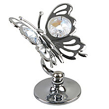 Chrome Plated Butterfly Ornament with Swarovski Elements - Product number 4936434