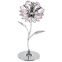 Chrome Plated Sunflower Ornament with Swarovski Elements - Product number 4936469
