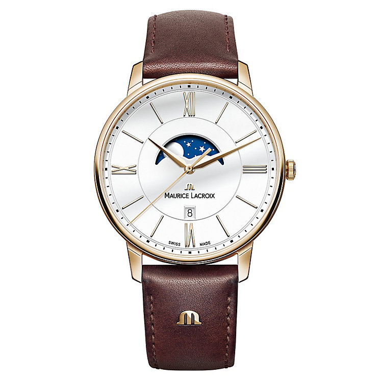 Maurice Lacroix Men's Rose Gold Plated Strap Watch - Product number 4936477