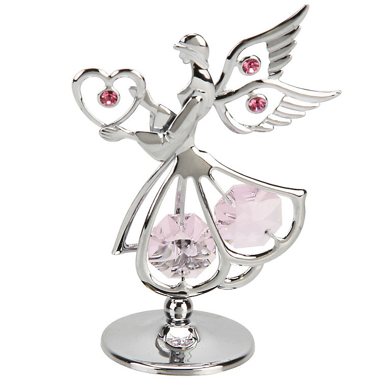 Crystocraft Standing Mini Sacred Angel With Heart & Crystals - Product number 4936485