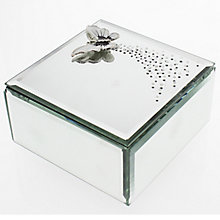 Glass Trinket Box With Butterfly - Product number 4936515