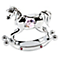 Chrome Plated Rocking Horse Ornament with Swarovski Elements - Product number 4936841