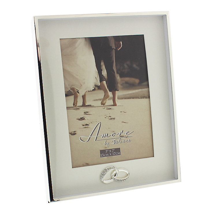 "Silver Plated Wedding Photo Frame  5"" x 7"" - Product number 4936906"