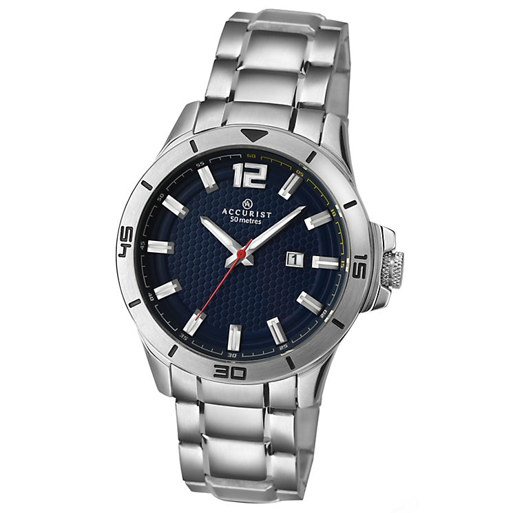 Accurist Men's Blue Dial Stainless Steel Bracelet Watch - Product number 4938038