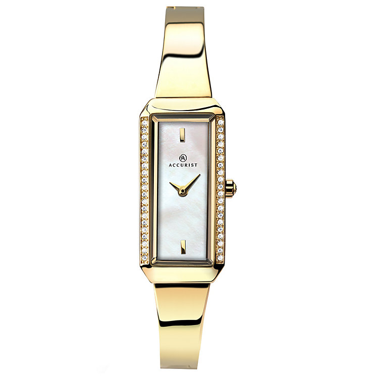 Accurist Ladies' Rectangular Dial Gold-Plated Bracelet Watch - Product number 4938577