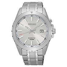 Seiko Men's Stainless Steel White Dial Watch - Product number 4938607