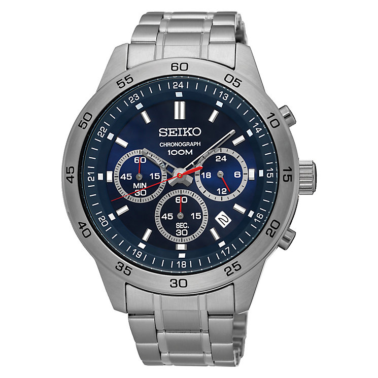 Seiko Men's Stainless Steel Blue Dial Watch - Product number 4938615