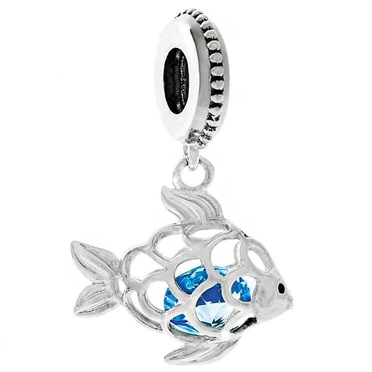Chamilia Silver & Swarovski Crystal Fresh Catch Charm Bead - Product number 4943457
