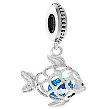 Chamilia Silver & Swarovski Crystal Fresh Catch Charm Bead - Product number 4943457