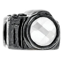 Chamilia Oxidised Sterling Silver Crystal Set Camera Bead - Product number 4943481