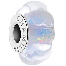 Chamilia Sterling Silver & White Murano Glass Moonlight Bead - Product number 4943503