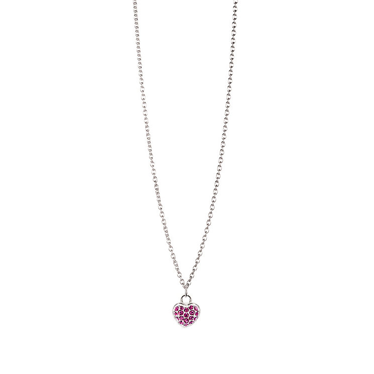 Chamilia Sterling Silver February Pave Birthstone Necklace - Product number 4943538
