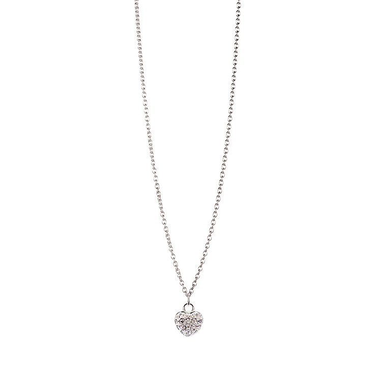 Chamilia Sterling Silver April Pave Birthstone Necklace - Product number 4943554