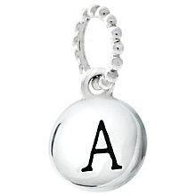 Chamilia Sterling Silver A Alphabet Disc Charm Bead - Product number 4943953