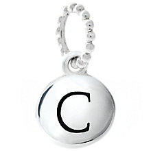 Chamilia Sterling Silver C Alphabet Disc Charm Bead - Product number 4943988