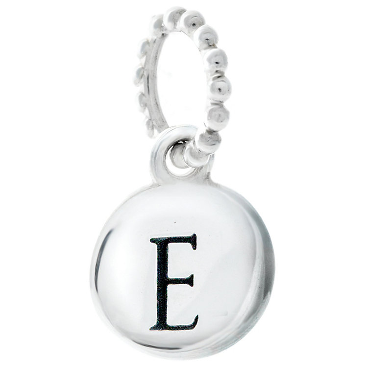 Chamilia Sterling Silver E Alphabet Disc Charm Bead - Product number 4944003