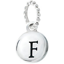 Chamilia Sterling Silver F Alphabet Disc Charm Bead - Product number 4944011
