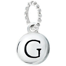 Chamilia Sterling Silver G Alphabet Disc Charm Bead - Product number 4944038