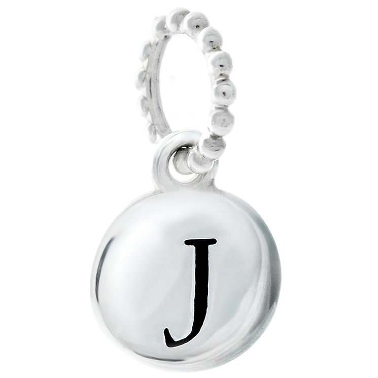 Chamilia Sterling Silver J Alphabet Disc Charm Bead - Product number 4944062