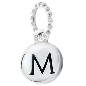 Chamilia Sterling Silver M Alphabet Disc Charm Bead - Product number 4944097