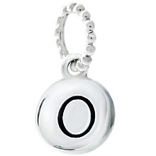 Chamilia Sterling Silver O Alphabet Disc Charm Bead - Product number 4944119