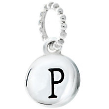 Chamilia Sterling Silver P Alphabet Disc Charm Bead - Product number 4944127