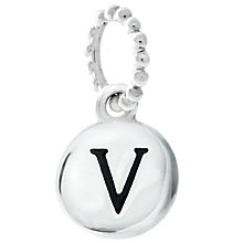 Chamilia Sterling Silver V Alphabet Disc Charm Bead - Product number 4944194