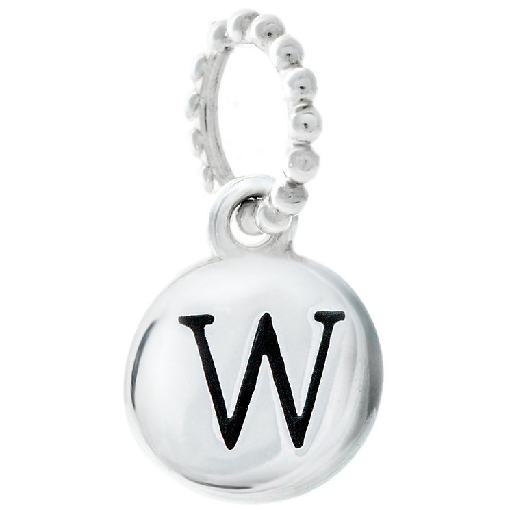 Chamilia Sterling Silver W Alphabet Disc Charm Bead - Product number 4944208