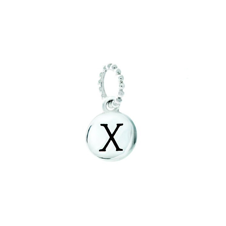 Chamilia Sterling Silver X Alphabet Disc Charm Bead - Product number 4944216