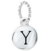 Chamilia Sterling Silver Y Alphabet Disc Charm Bead - Product number 4944240