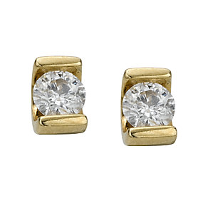 9ct gold quarter carat diamond solitaire earrings - Product number 4944534
