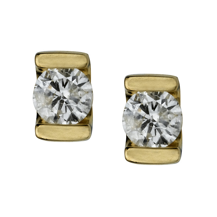 9ct gold third carat diamond solitaire earrings - Product number 4944542